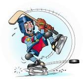 Tir de claque dans l'hockey Images libres de droits