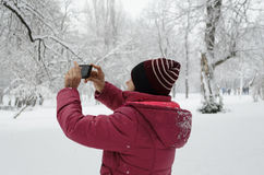 Tir de femme Photographie stock