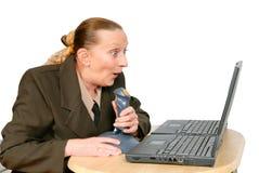 Tir de femme d'affaires en ligne Photographie stock