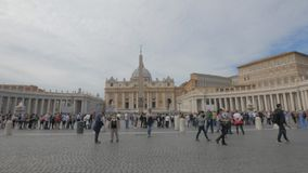 Tir de filtrage grand-angulaire de la place de St Peter, Rome clips vidéos