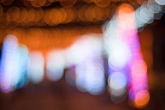 Tir de lumière de Bokeh Photo stock