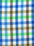 Tir de macro de chemise de plaid Images stock