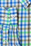 Tir de macro de chemise de plaid Photographie stock libre de droits