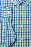 Tir de macro de chemise de plaid Image libre de droits