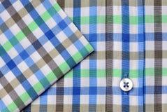 Tir de macro de chemise de plaid Image stock