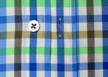 Tir de macro de chemise de plaid Photos stock
