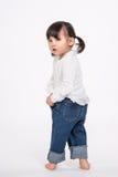 Tir de portrait de studio du bébé asiatique de 3 ans - d'isolement Photographie stock libre de droits