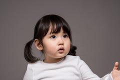 Tir de portrait de studio du bébé asiatique de 3 ans - d'isolement Photos stock