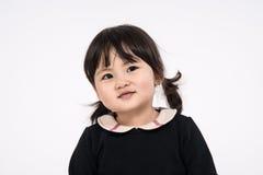 Tir de portrait de studio du bébé asiatique de 3 ans - d'isolement Photographie stock