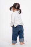 Tir de portrait de studio du bébé asiatique de 3 ans - d'isolement Image libre de droits