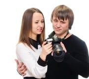 Tir de révision de photo de couples mauvais image libre de droits