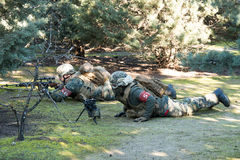 Tir de soldat d'Airsoft Image stock