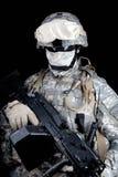 Tir de studio d'artilleur de machine de marines des Etats-Unis Images stock