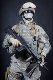 Tir de studio d'artilleur de machine de marines des Etats-Unis Photographie stock