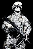 Tir de studio d'artilleur de machine de marines des Etats-Unis Photos libres de droits