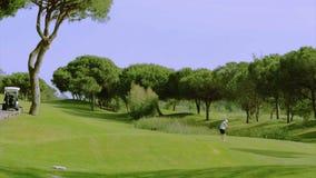Tir de tee de golf, dans la destination célèbre d'Algarve, le Portugal Photo stock