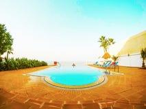 Tir de villa de piscine photos libres de droits