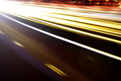 Tir de vitesse et de nuit Photographie stock