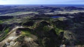 Tir de vue aérienne de Sveifluhals avec le bourdon photo libre de droits