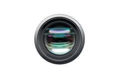 Tir de vue de face d'objectif de caméra d'isolement Photographie stock