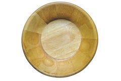 Tir de vue supérieure de cuvette en bois d'isolement sur le blanc Image libre de droits