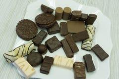 Tir des pralines d'un chocolat de stock photographie stock