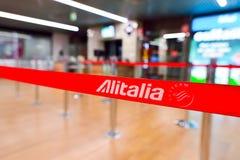 Tir en gros plan de ceinture d'Alitalia Photos stock