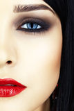 Tir en gros plan de visage de femme Images stock