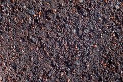 Tir en gros plan utilisé de marcs de café macro très proche des particules et de la texture photo stock
