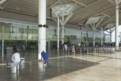 Tir extérieur d'aéroport domestique de New Delhi sur 25 septembre 2011 Photographie stock libre de droits