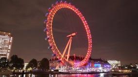 Tir fantastique de nuit d'oeil de Londres pour l'usage éditorial seulement banque de vidéos