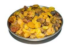 Tir haut étroit des raisins secs organiques, raisins doux secs photos stock