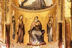 Tir intérieur du Cappella célèbre Palatina en Sicile Photos libres de droits
