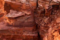 Tir invisible et vue du paysage guidé dangereux de parc national de l'Arizona de falaise de courbure en fer à cheval avant temps  photos libres de droits