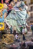 Tir large d'équipage et de ninots de Paella photos libres de droits