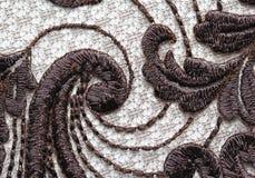 Tir matériel de macro de texture de dentelle de fleur de Brown Images stock