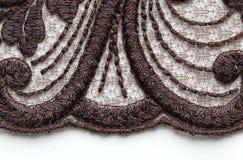 Tir matériel de macro de texture de dentelle de fleur de Brown Image libre de droits