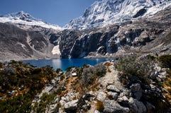 Tir moyen de Laguna 69, Huaraz, Pérou images stock