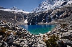 Tir moyen de Laguna 69, Huaraz, Pérou image libre de droits