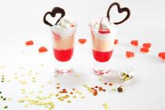 Tir multicouche de cocktail, plan rapproché Jour du ` s de Valentine de saint Image libre de droits