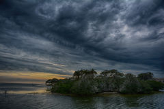 Tir orageux de nuit de ciel Image libre de droits