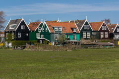 Tir panoramique de village Marken Photos stock