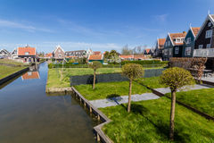 Tir panoramique de village Marken Photo stock