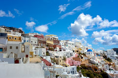 Tir parfait Santorini de point de repère parfait Photos stock