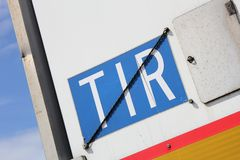 TIR plate Royalty Free Stock Photography