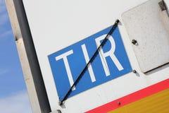TIR-Platte Lizenzfreie Stockfotografie