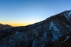 Tir scénique de paysage de montagne de la Corée au parc national de Seoraksan de bâti image stock