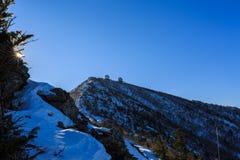 Tir scénique de paysage de montagne de la Corée au parc national de Seoraksan de bâti Photos stock