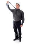 Tir vers le haut sur l'homme de lien dans la chemise et le lien photo stock