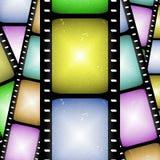 Tira abstrata da película de filme   Fotos de Stock